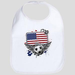 Soccer fans USA Bib