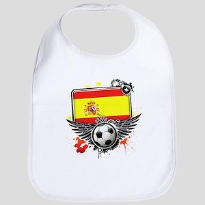 Soccer fans Spain Bib