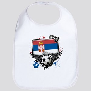 Soccer fans Serbia Bib