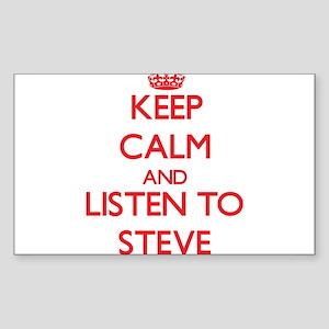 Keep Calm and Listen to Steve Sticker