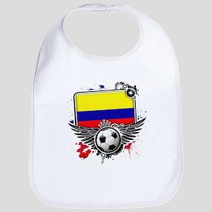 Soccer fans Colombia Bib
