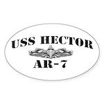 USS HECTOR Sticker (Oval)