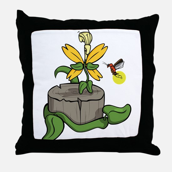 Summer Visitors Throw Pillow