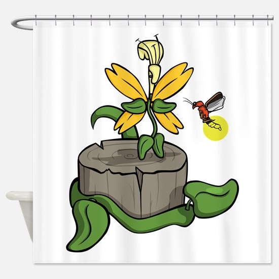 Summer Visitors Shower Curtain