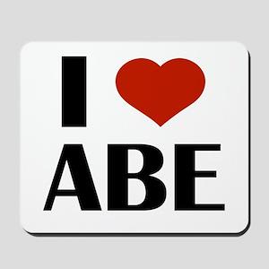 I Heart Abe Mousepad