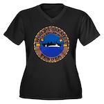 USS HOLLAND Women's Plus Size V-Neck Dark T-Shirt