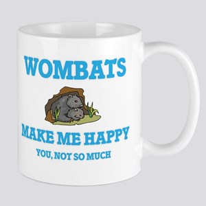 Wombats Make Me Happy Mugs