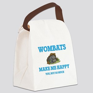 Wombats Make Me Happy Canvas Lunch Bag