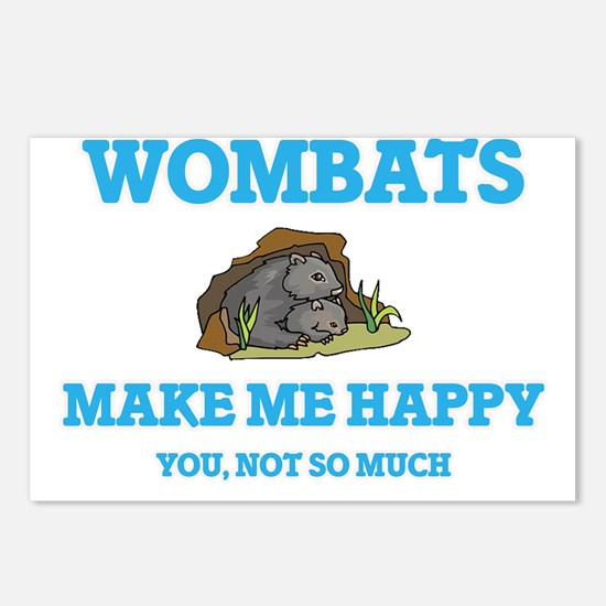 Wombats Make Me Happy Postcards (Package of 8)