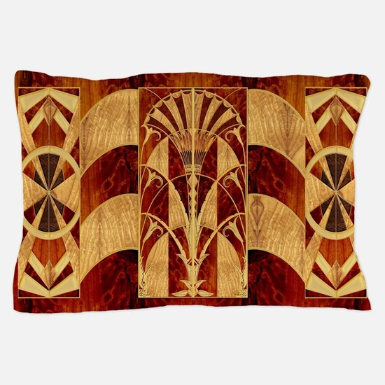 Harvest Moons Art Deco Panel Pillow Case