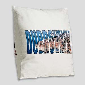 Dubrovnik Burlap Throw Pillow