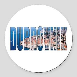 Dubrovnik Round Car Magnet