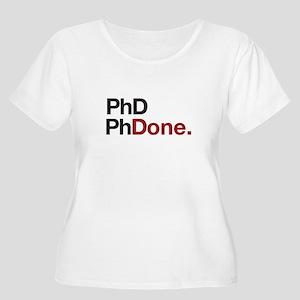 phD PhDone Plus Size T-Shirt