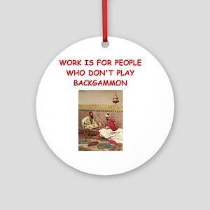 BACKGAMMON2 Ornament (Round)