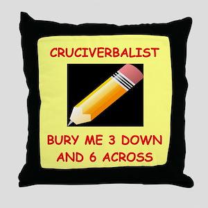 CROSSWORDS7 Throw Pillow