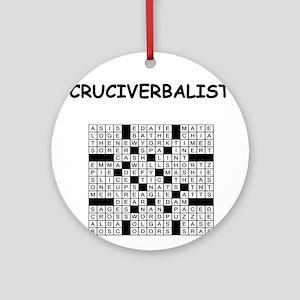 CROSSWORDS5 Ornament (Round)