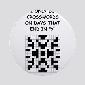 CROSSWORDS2 Ornament (Round)