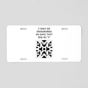 CROSSWORDS2 Aluminum License Plate