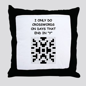 CROSSWORDS2 Throw Pillow