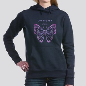 One Day at a Time Quote Butterfly Art Women's Hood
