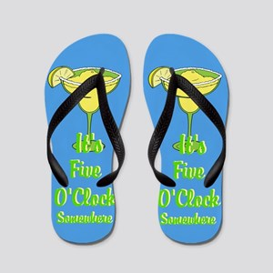 Five O'clock Somewhere - Beach Bum Flip Flops