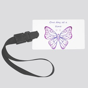 One Day at a Time Quote Butterfly Art Large Luggag