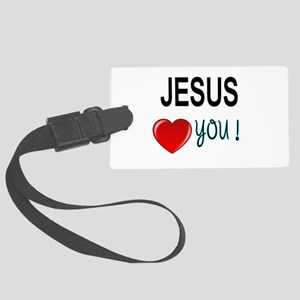 Jesus loves you Luggage Tag