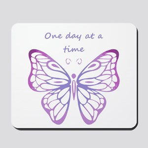 One Day at a Time Quote Butterfly Art Mousepad