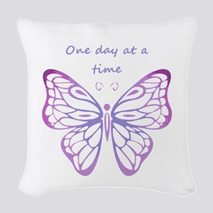 One Day at a Time Quote Butterfly Art Woven Throw