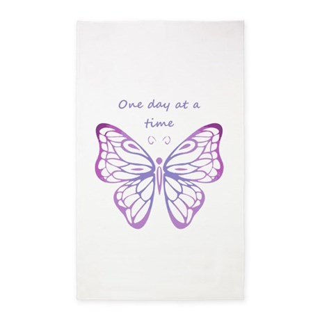 One Day At A Time Quote Butterfly Art 3x5 Area R By Barkettc