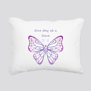One Day at a Time Quote Butterfly Art Rectangular
