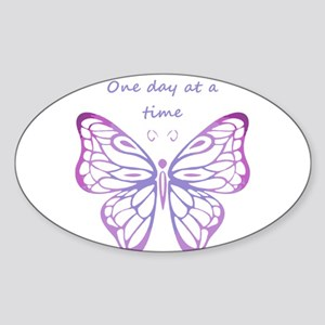 One Day at a Time Quote Butterfly Art Sticker