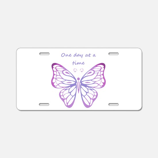 One Day at a Time Quote Butterfly Art Aluminum Lic