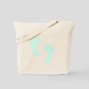 Subtle Footprints Tote Bag