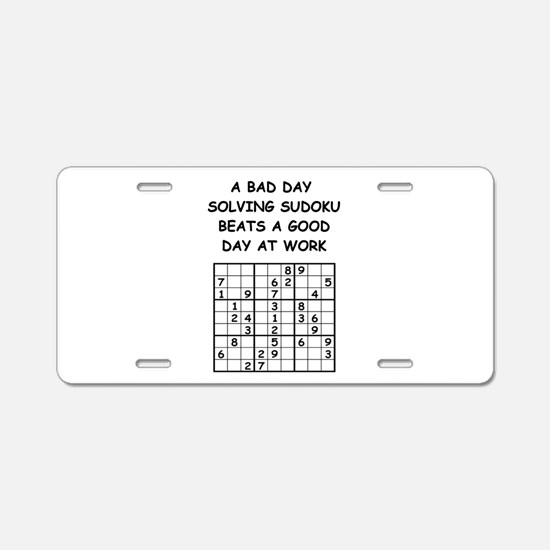 SUDOKU4 Aluminum License Plate