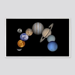 Our Solar System Planets 3'x5' Area Rug