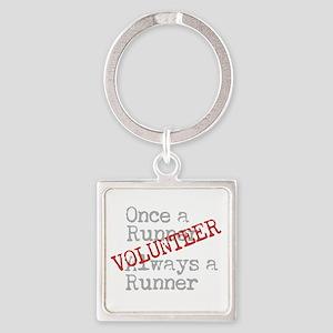 Funny Former Runner Volunteer Square Keychain