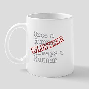 Funny Former Runner Volunteer (left) Mugs