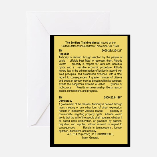 THE SOLDIERS TRAINING MANUAL Greeting Cards