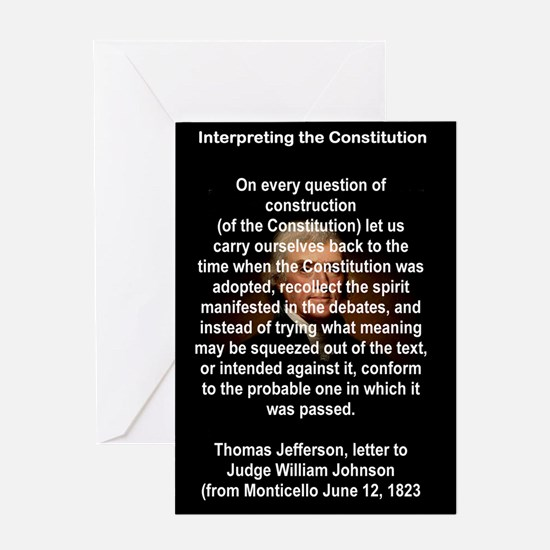 INTERPRETING THE CONSTITUTION Greeting Cards