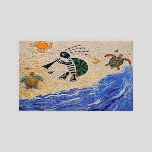 Kokopelli Turtle 3'x5' Area Rug
