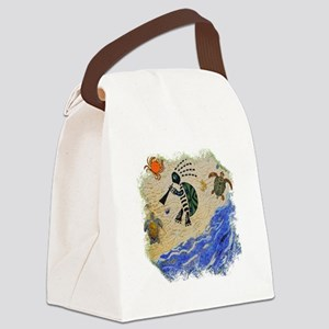 Kokopelli Turtle Canvas Lunch Bag