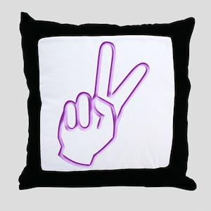 Subtle Peace Sign Throw Pillow