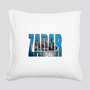 Zadar Square Canvas Pillow