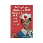Funny Nurse, By Bluntcard Magnets