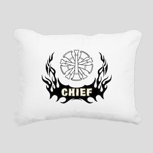 Fire Chief Tattoo Rectangular Canvas Pillow