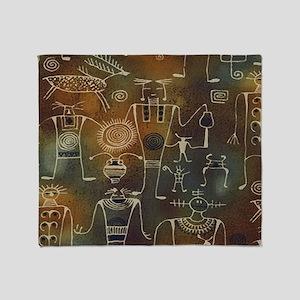 Hopi Petroglyphs Throw Blanket