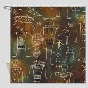 Hopi Petroglyphs Shower Curtain
