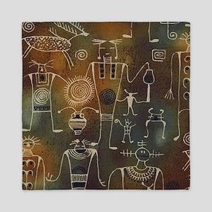 Hopi Petroglyphs Queen Duvet