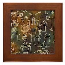 Hopi Petroglyphs Framed Tile